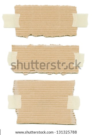 Label stuck with tape - stock photo