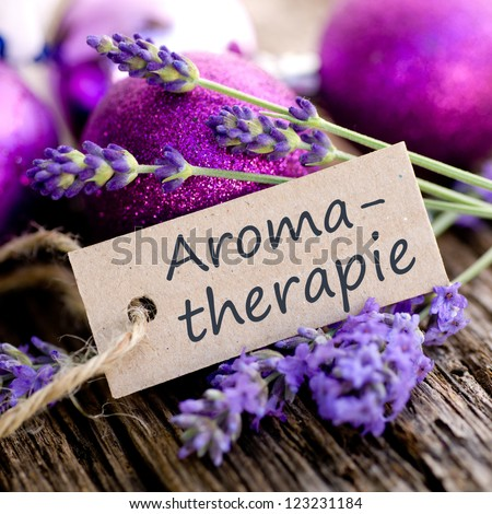 Label with german text: Aroma therapy
