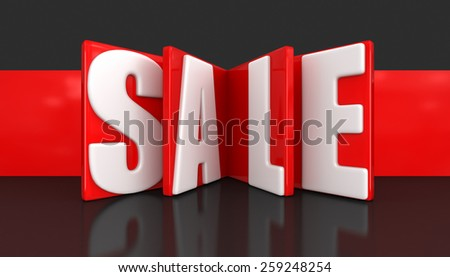 Label with Sale (clipping path included) - stock photo