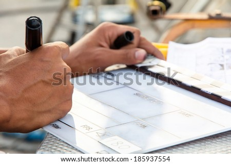 Labeling the Slate - stock photo