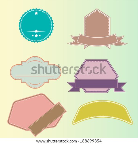 labels - stock photo