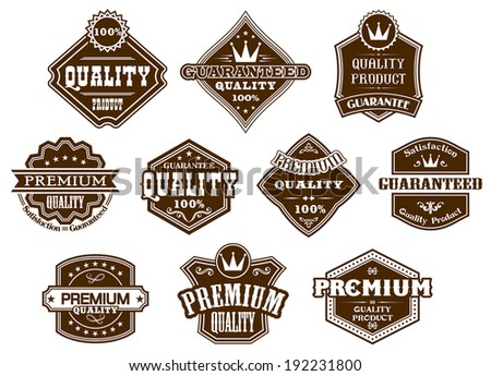 Labels and banners set in western logo style for design. Vector version also available in gallery - stock photo