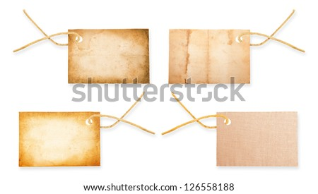 labels collection isolated on white - stock photo