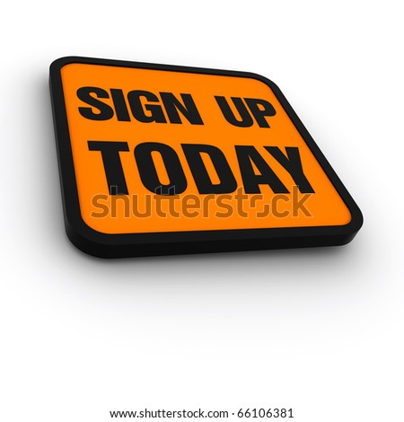 labels for the sign up today - stock photo