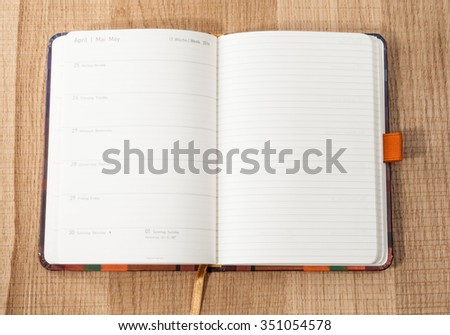 Labor Day on May 1 in the German diary - stock photo