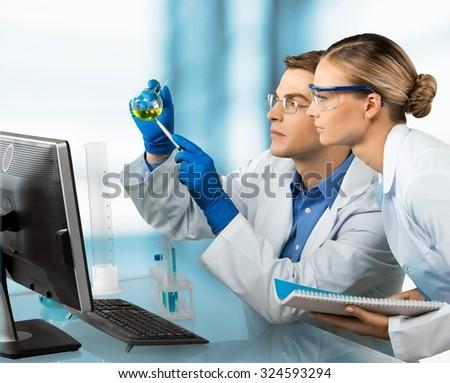 Laboratory. - stock photo