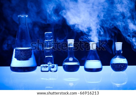 Laboratory glass - stock photo