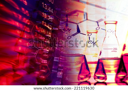 Laboratory glass. Laboratory concept. Small depth of field. - stock photo