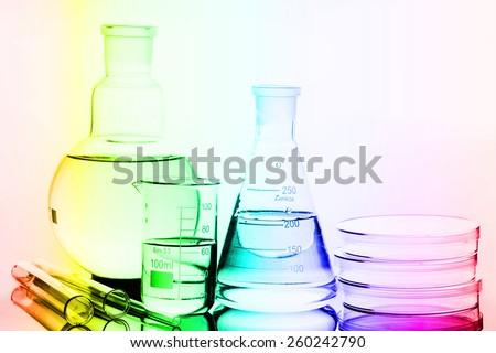 Laboratory glass. Macro image. Laboratory concept. - stock photo