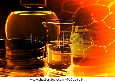 Laboratory glass. Macro image. Laboratory concept. - stock photo