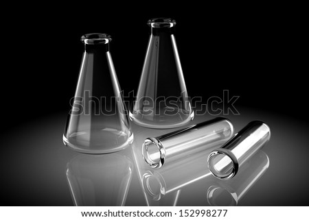 Laboratory glassware for liquids (high resolution 3D image)