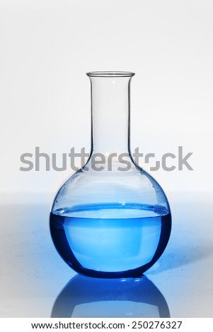 Laboratory glassware isolated over white background