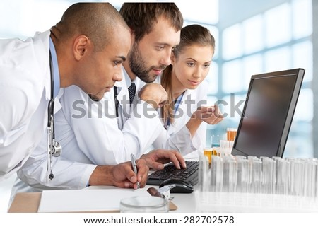Laboratory, Healthcare And Medicine, Medical Exam. - stock photo