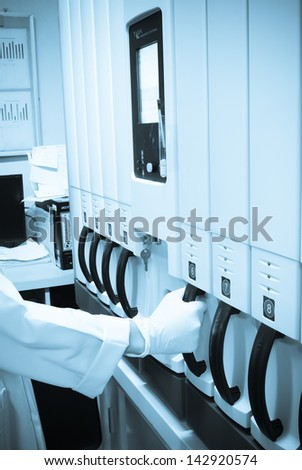 Laboratory hemo colture - stock photo