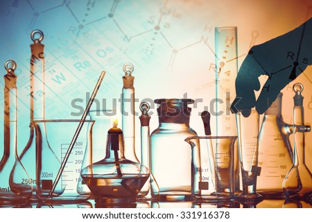 Laboratory research in science and medical setting. - stock photo