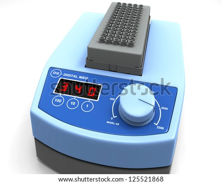 Laboratory scale isolated on white - stock photo