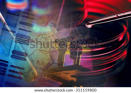 Laboratory tools and glass. Laboratory concept. - stock photo
