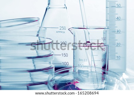Laboratory tools. Macro image. Laboratory concept. - stock photo