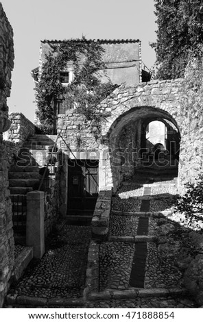 LABRO, ITALY - 13 SEPTEMBER 2014 - Labro (Rieti) is a nice and little medieval stone town over the Piediluco lake, in Lazio region, the border with Umbria region