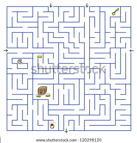 Labyrinth. - stock photo