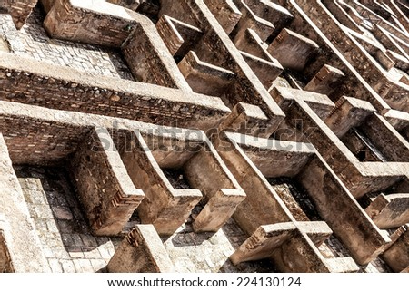 labyrinth at Granada, Spain - stock photo