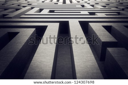 Labyrinth Background - stock photo