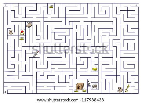 Labyrinth.  Raster version. - stock photo