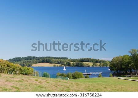 Lac de Vassiviere in the French Limousin - stock photo