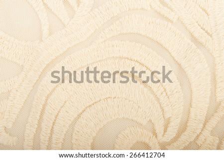 Lace beige background - stock photo
