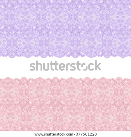 Lace closeup isolated on white