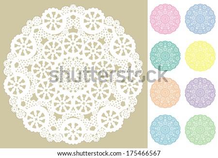 Cake Lace Mats Snowflake