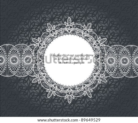 Lace frames. Raster illustration. - stock photo