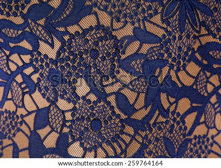 Lace on the fabric. tissue, textile, cloth, fabric, material - stock photo