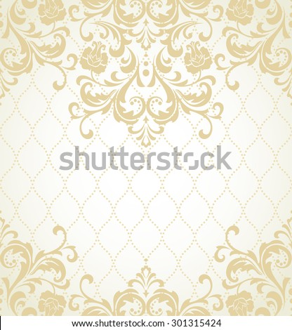Lace pattern in Eastern style on scroll work background. Ornate element for design. Place for text. Ornamental pattern for wedding invitations, greeting cards. Traditional outline decor. - stock photo