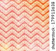 Lace vintage background with chevron on red background. Lace zigzag. raster version - stock photo