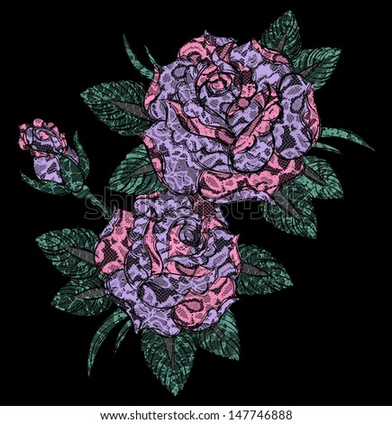 Laced Rose - stock photo