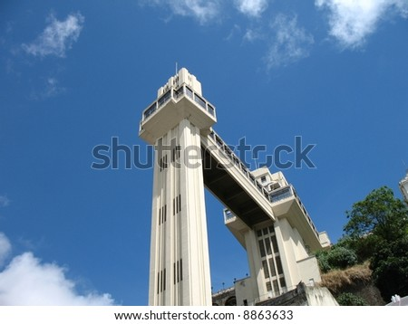 Lacerda Elevator in Salvador Brazil - stock photo