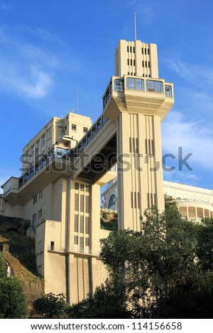 Lacerda Elevator, Salvador, Bahia, Brazil. - stock photo