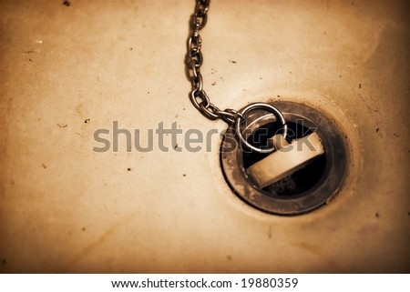 Lack of water. High contrast effect. - stock photo