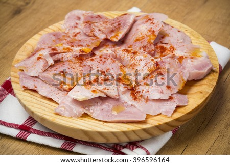 Lacon,spanish typical food - stock photo