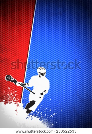 Lacrosse invitation advert poster or flyer background with empty space