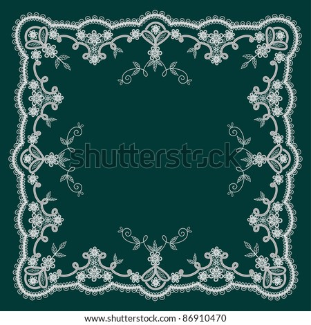 lacy patterns with in vintage style