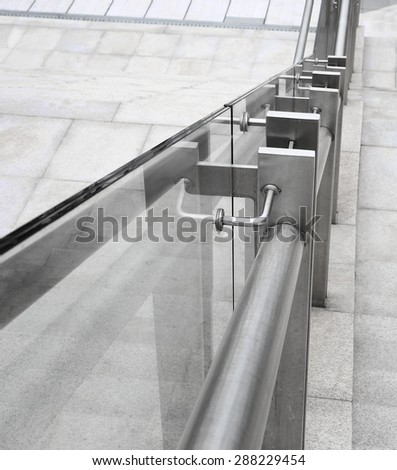 ladder in the modern building - stock photo
