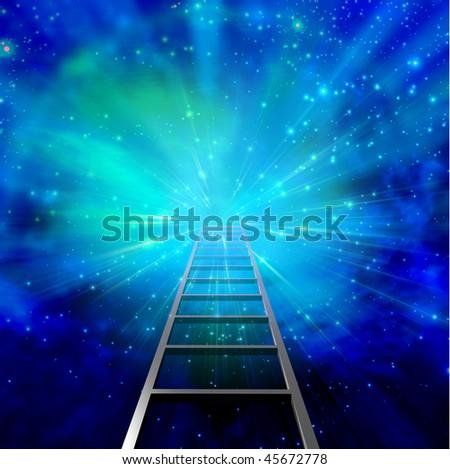 Ladder into Burst - stock photo