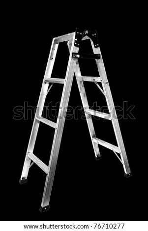 Ladder Isolated on black background - stock photo