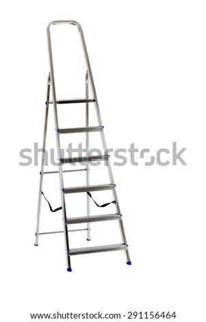 Ladder isolated on white - stock photo