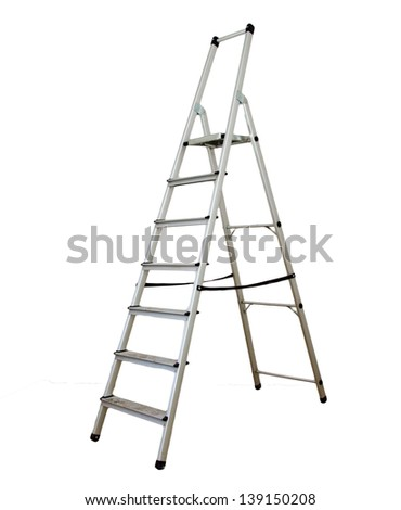 ladder on a white background - stock photo