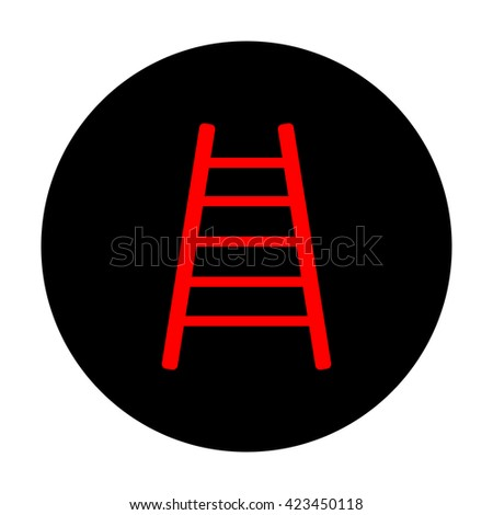 Ladder sign. Red icon