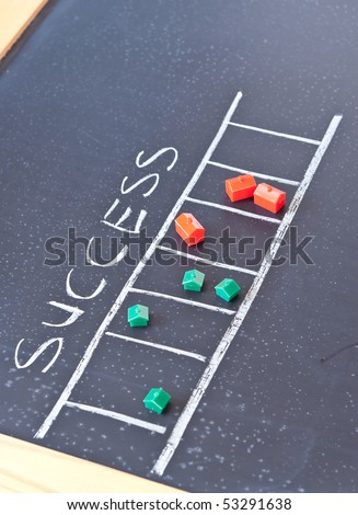Ladder to Success ( Real Estate Concept ) - stock photo