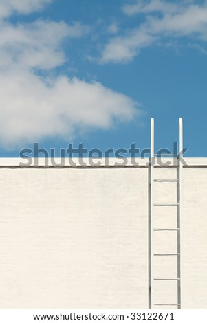 Ladder to the blue sky - stock photo
